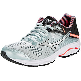 Mizuno Wave Inspire 15 Shoes Women Sky Gray/Silver/Fiery Coral